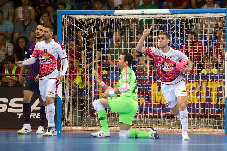 League LNFS 2018/2019.<br /> PlayOff Final. 1er. partido.<br /> FC Barcelona Lassa vs El Pozo Murcia: 7-2.<br /> Fernando Aguilera.