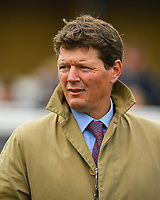 Trainer Andrew Balding during Racing at Newbury Racecourse on 12th April 2019