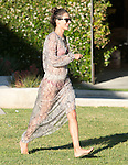 July 7th Sunday <br /> <br /> Alessandra Ambrosio smiling &amp; laughing while playing in Malibu Calilfornia Cross Creek park with family Jamie Mazur &amp; daughter Anja. Wearing a net lace see through dress After playing in the park Alessandra was holding her Pink &amp; Purple dog on a beach house balcony near by wearing a bikini <br /> <br /> AbilityFilms@yahoo.com<br /> 805 427 3519 <br /> www.AbilityFilms.com