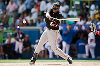 7 March 2009: #50 Kenley Jansen of the Netherlands is seen at bat during the 2009 World Baseball Classic Pool D match at Hiram Bithorn Stadium in San Juan, Puerto Rico. Netherlands pulled off a huge upset in their World Baseball Classic opener with a 3-2 victory over Dominican Republic.