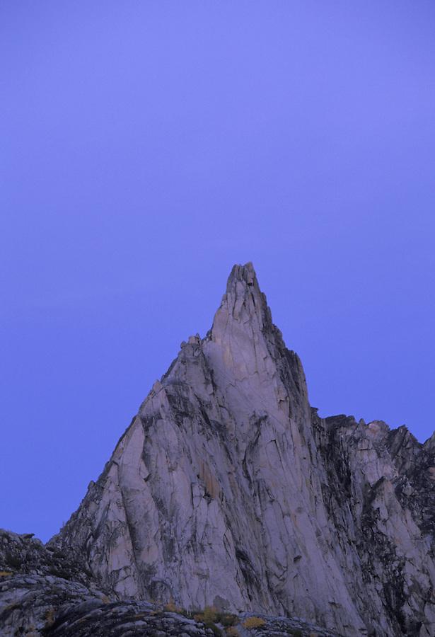 Prusik Peak at dusk, Enchantment Lakes, Alpine Lakes Wilderness, Washington