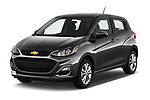 2019 Chevrolet Spark 1LT 5 Door Hatchback angular front stock photos of front three quarter view