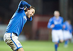 Dundee United v St Johnstone...12.03.14    SPFL<br /> Stevie May celebrates his goal after having a haircut<br /> Picture by Graeme Hart.<br /> Copyright Perthshire Picture Agency<br /> Tel: 01738 623350  Mobile: 07990 594431