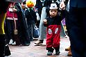 October 31, 2012, Tokyo, Japan - Japanese kids march with their costumes during Kichijoji Halloween Festival 2012 near the Kichijoji station, Tokyo Japan. (Photo by Yumeto Yamazaki/AFLO)
