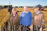 Enjoying the Ballyheigue Ploughing Competition on Sunday were l-r  John Mangan, Tralee, George Nagle, Castlemaine and Thomas Healy, Ballyheigue. held in the Rectory Field, Flahive Family