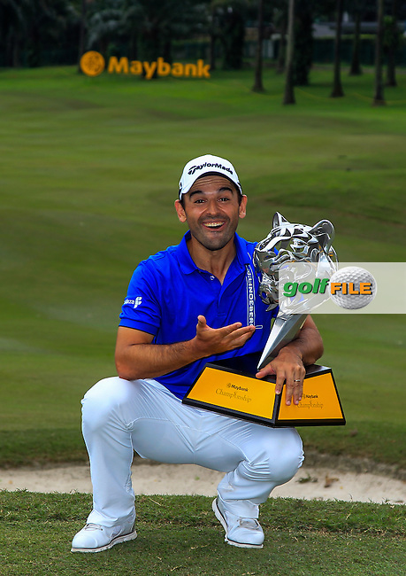 Fabrizio Zanotti (PAR) winner of the Maybank Championship on Sunday 12th February 2017.<br /> Picture:  Thos Caffrey / Golffile<br /> <br /> All photo usage must carry mandatory copyright credit     (&copy; Golffile | Thos Caffrey)