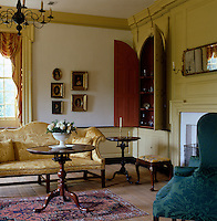 This formal and elegant drawing room has a golden yellow colour scheme
