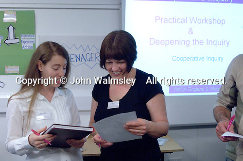 During the YWCA Team's workshop at the Sex & Relationships Education Conference at the Institute of Education, London.