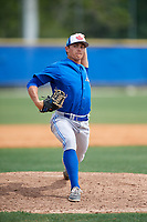 Toronto Blue Jays pitcher Brody Rodning (41) during a Minor League Spring Training Intrasquad game on March 31, 2018 at Englebert Complex in Dunedin, Florida.  (Mike Janes/Four Seam Images)