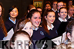 The choir ready for curtains in the Castleisland Presentation Schools Talent show last Thursday.