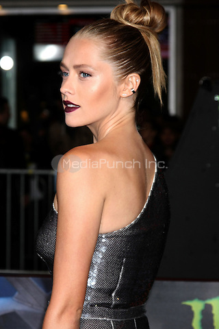 """HOLLYWOOD, CA - DECEMBER 15: Teresa Palmer at the """"Point Break"""" Premiere at the TCL Chinese Theater in Hollywood, California on December 15, 2015. Credit: David Edwards/MediaPunch"""