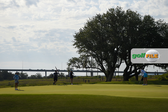 A wide view of the green on 10 just after sunrise during round 2 of the 2019 US Women's Open, Charleston Country Club, Charleston, South Carolina,  USA. 5/31/2019.<br /> Picture: Golffile | Ken Murray<br /> <br /> All photo usage must carry mandatory copyright credit (© Golffile | Ken Murray)