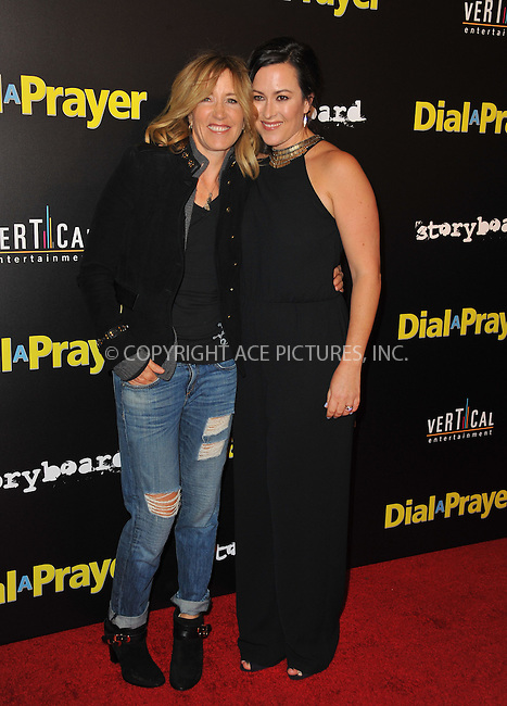 WWW.ACEPIXS.COM<br /> <br /> April 7, 2015, LA<br /> <br /> Actress Felicity Huffman and Maggie Kiley arriving at the 'Dial A Prayer' premiere at the Landmark Theater on April 7, 2015 in Los Angeles, California.<br /> <br /> By Line: Peter West/ACE Pictures<br /> <br /> <br /> ACE Pictures, Inc.<br /> tel: 646 769 0430<br /> Email: info@acepixs.com<br /> www.acepixs.com
