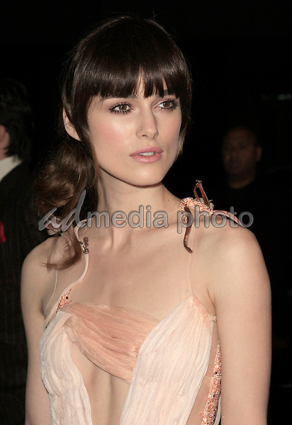 "06 December, 2007 - Beverly Hills, California - Keira Knightley. ""Atonement"" Los Angeles Premiere held at the Academy Theatre. Photo Credit: Russ Elliot/AdMedia"