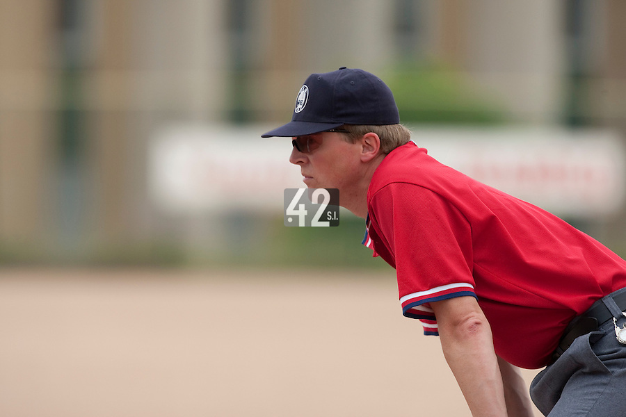 23 May 2009: Umpire Thomas Haywood is seen during the 2009 challenge de France, a tournament with the best French baseball teams - all eight elite league clubs - to determine a spot in the European Cup next year, at Montpellier, France. Savigny wins 4-1 over Senart.