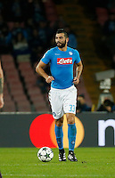 Raul Albiol during the Champions League Group  soccer match between SSC Napoli and   Dinamo Kiev  at the San Paolo  Stadium inNaples November 24, 2016