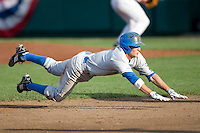 UCLA's Niko Gallego against Florida in Game 2 of the NCAA Division One Men's College World Series on Saturday June 19th, 2010 at Johnny Rosenblatt Stadium in Omaha, Nebraska.  (Photo by Andrew Woolley / Four Seam Images)
