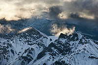 Aerial of the phillip smith mountains of the Brooks Range, Arctic National Wildlife Refuge, Alaska.