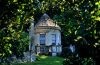 View of the summer house in The Peto Garden at Iford Manor