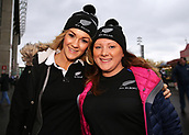 4th November 2017, Twickenham Stadium, Twickenham, England; Autumn International Rugby, Barbarians versus New Zealand; Pair of New Zealand fans posing outside Twickenham Stadium before kick off