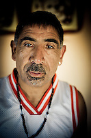 S.Antonio; Chile; 2011; Manuel Aurelio Silva Reyes  51 años de edad. Story on San antonio harbour fishermen, where after decades of over fishing the traditional small fishermen can barely survive with the small catch they get. Entire fishermen towns in Chile´s V Region are endangered