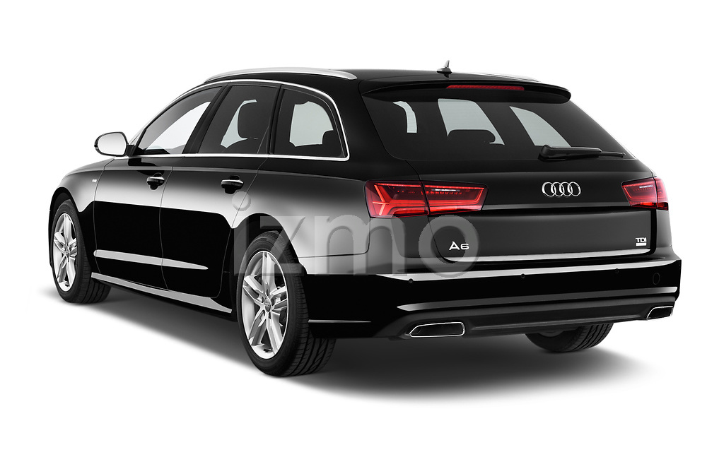 Car pictures of rear three quarter view of 2015 Audi A6 S Line 5 Door Wagon angular rear