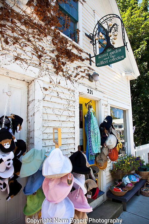 Colorful clothing can be found at The Secret Garden on Wellfleet's main street.