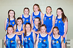 St Annes team that played St Pauls in the u14 final at the  County basketball finals in Killarney on Sunday front row l-r: Chloe O'Connor, Elaine O'Donoghue, Olivia Goulding, Kimberly O'Brien. Middle row: Megan brosnan, Allanah Glennon. Back row: Brid Flynn, Julianne Murphy, Sarah kennedy, Mileta Formalyte, Mairead O'Mahony,