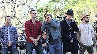 11 NOVEMBRE 2012 - LOS ANGELES - ETATS-UNIS - LES BACKSTREET BOYS EN REPETITION POUR LEUR PERFORMANCE LORS DE L'ILLUMINATION DE L' ARBRE DE NOEL DE THE GROVE (KDENA/NortePhoto)