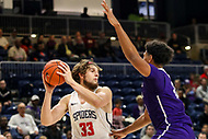 Washington, DC - December 22, 2018: Richmond Spiders forward Grant Golden (33) looks to pass the ball during the DC Hoops Fest between Hampton and Howard at  Entertainment and Sports Arena in Washington, DC.   (Photo by Elliott Brown/Media Images International)