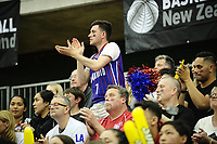 Fans watch the 2017 AA Boys' Secondary Schools Basketball Premiership National Championship final between Rangitoto College and Rosmini College at the B&M Centre in Palmerston North, New Zealand on Saturday, 7 October 2017. Photo: Dave Lintott / lintottphoto.co.nz