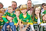Cian O'Carroll (Duagh) Brian Mangan (Keel) Michael Loughlin (Keel) and Katie Gentleman (Ballyheigue)  at Kerry GAA family day at Fitzgerald Stadium on Saturday.