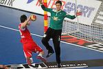 Mocsai (6) vs Landin (1). DENMARK vs HUNGARY: 28-26 - Quarterfinal.