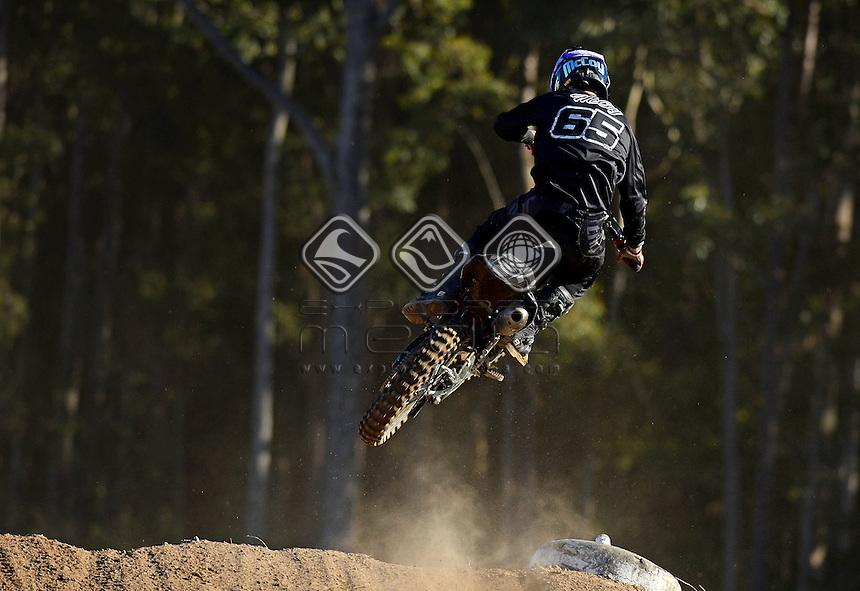Dan McCoy / Yamaha<br /> MX Nationals / Round 6 / MX1<br /> Australian Motocross Championships<br /> Raymond Terrace NSW<br /> Sunday 5 July 2015<br /> &copy; Sport the library / Jeff Crow