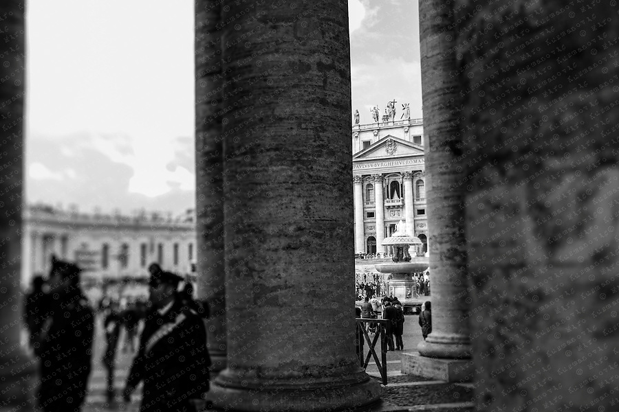 The balcony of St. Peter Basilica.