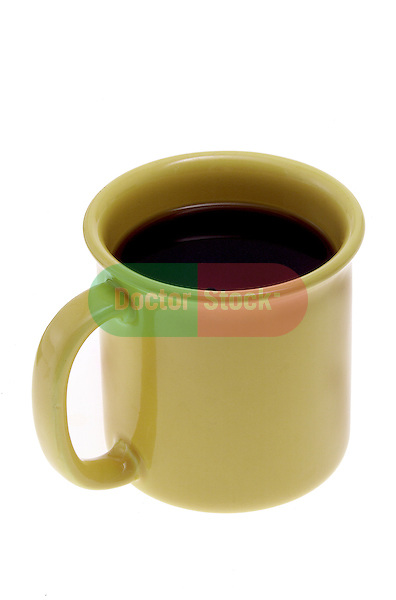 mug of coffee on shadowless white background