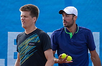 Zandvoort, Netherlands, 8 June, 2019, Tennis, Play-Offs Competition, Mens doubles: Sander Arends (L) and David Pel (NED)<br /> Photo: Henk Koster/tennisimages.com