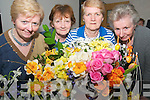 Flower Arranging: Members of the Listowel Women's Group attending a flower arranging workshop at the Listowel Family Resource centre on Tuesday evening last. L-R : Kathleen O'Connor, Frances O'Keeffe, Flower arranger Kathleen Reidy & Ella O'Sullivan.