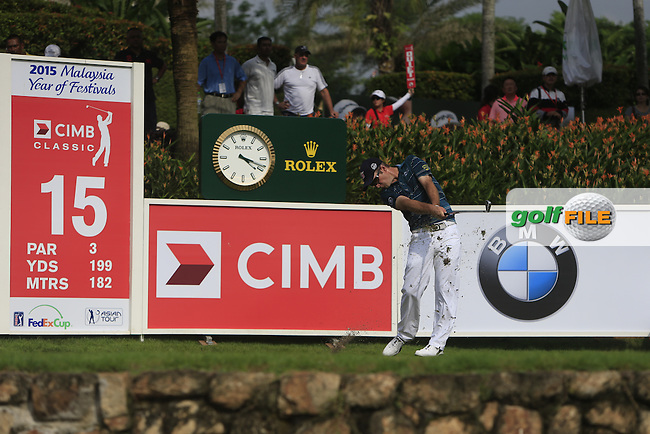 Kevin Streelman (USA) on the 15th tee during Round 3 of the CIMB Classic in the Kuala Lumpur Golf &amp; Country Club on Saturday 1st November 2014.<br /> Picture:  Thos Caffrey / www.golffile.ie