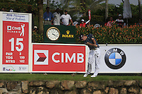 Kevin Streelman (USA) on the 15th tee during Round 3 of the CIMB Classic in the Kuala Lumpur Golf & Country Club on Saturday 1st November 2014.<br /> Picture:  Thos Caffrey / www.golffile.ie