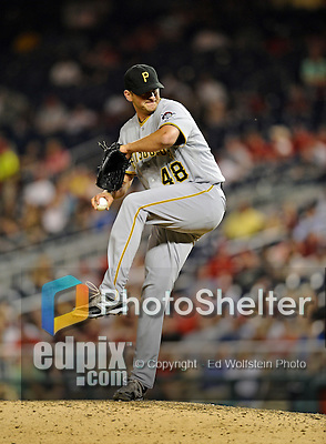 16 May 2012: Pittsburgh Pirates pitcher Jared Hughes on the mound against the Washington Nationals at Nationals Park in Washington, DC. The Nationals defeated the Pirates 7-4 in the first game of their 2-game series. Mandatory Credit: Ed Wolfstein Photo