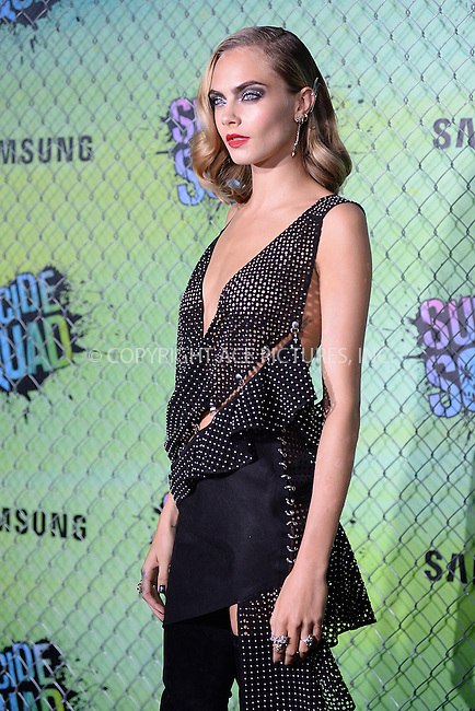 www.acepixs.com<br /> August 1, 2016  New York City<br /> <br /> Cara Delevingne attending the world premiere of Warner Bros. Pictures and Atlas Entertainment&rsquo;s 'Suicide Squad' at the Beacon Theatre on August 1, 2016 in New York City.<br /> <br /> <br /> Credit: Kristin Callahan/ACE Pictures<br /> <br /> <br /> Tel: 646 769 0430<br /> Email: info@acepixs.com