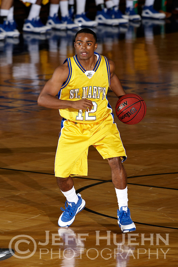 SAN ANTONIO, TX - NOVEMBER 25, 2008: The Texas A&M University-Kingsville Javelinas vs. the St. Mary's University Rattlers Men's Basketball at Bill Greehey Arena. (Photo by Jeff Huehn)