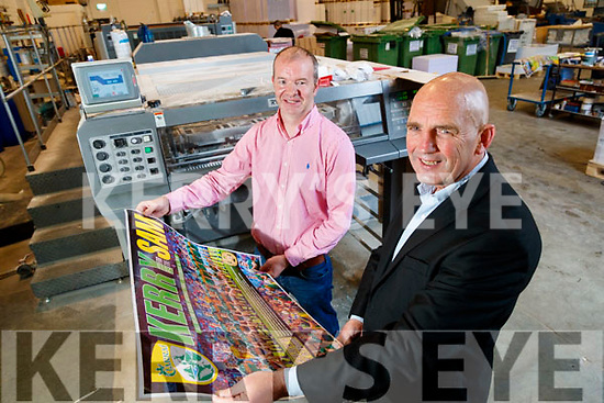 Damien Fitzgerald, Tralee printing and Brendan Kennelly, Kerry's Eye with one of our All Ireland Final posters.