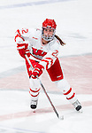 Wisconsin Badgers Laurel Miller (22) of the women's hockey team during a freshman photo shoot. This was a staged action shot for the UW Marketing Department. (Photo by David Stluka)