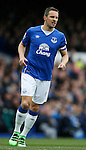 Phil Jagielka of Everton during the Barclays Premier League match at The Goodison Park Stadium. Photo credit should read: Simon Bellis/Sportimage