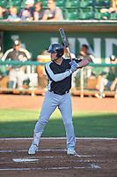 Antonio Hernandez (27) of the Grand Junction Rockies bats against the Ogden Raptors at Lindquist Field on June 15, 2019 in Ogden, Utah. The Raptors defeated the Rockies 12-11. (Stephen Smith/Four Seam Images)