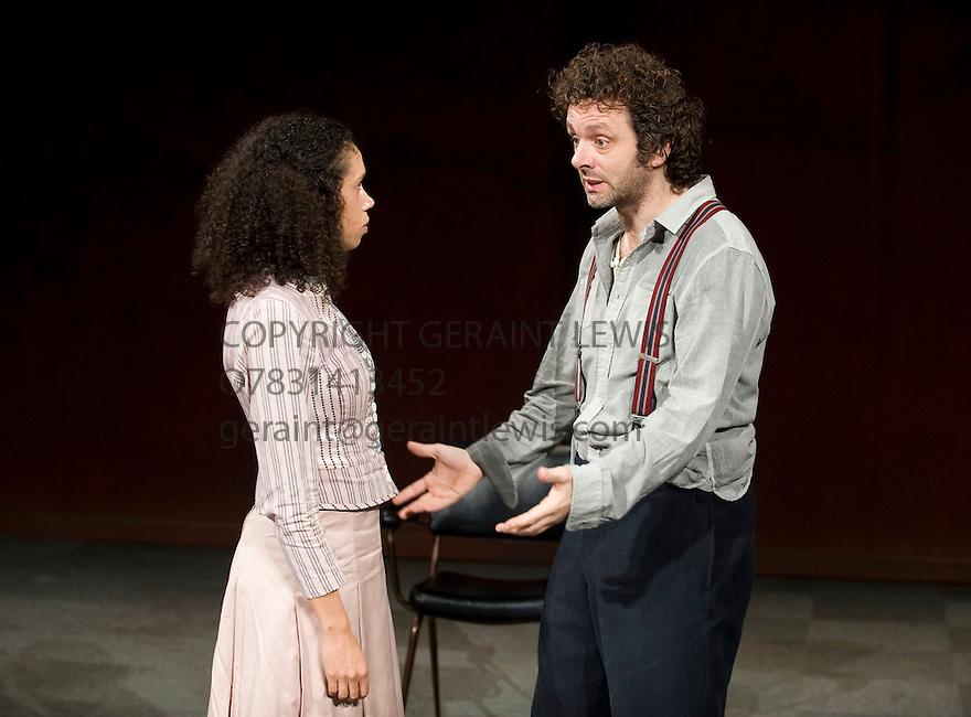 Hamlet by William Shakespeare, directed by Ian Rickson. With Michael Sheen as Hamlet, Vinette Robinson as Ophelia. Opens at The Young Vic Theatre on 9/11/11  . CREDIT Geraint Lewis