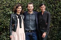 Ana Caterina Morariu, Giorgio Marchesi e Anna Valle<br /> Roma 06-03-2017. Serie Tv Rai 'Sorelle' Photocall<br /> Foto Samantha Zucchi Insidefoto