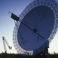 Radio telescope, Algonquin Park, Ontario, Canada, sunset